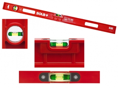 SOLA PF80 poziomica ABS plastic 2 libelle 80cm
