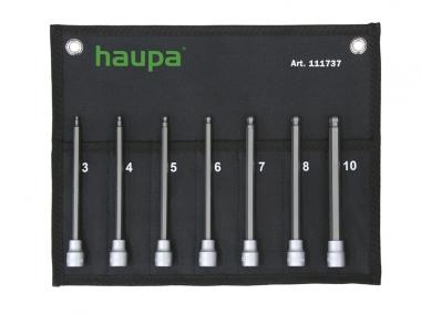HAUPA 111737 zestaw nasadki / klucze imbus hex 150mm
