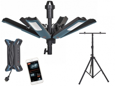 MARELD Starburst 16000 App lampa warsztatowa Bluetooth + statyw 2,2m