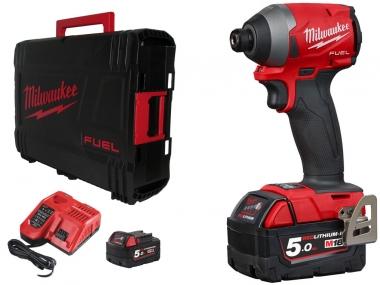 """MILWAUKEE M18 FID2-502X klucz udarowy 1/4"""" wkrętarka 226Nm 2x5,0Ah"""