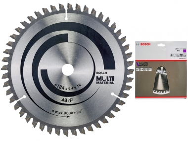 BOSCH tarcza piła tarczowa do aluminium 48z 16 / 184mm