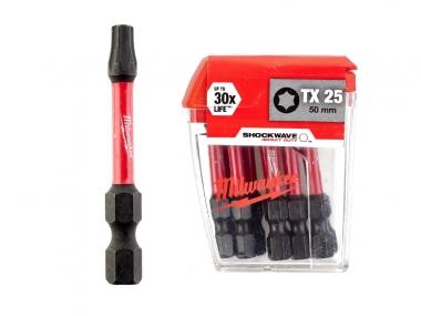 MILWAUKEE 4932430882 bity udarowe TX25 50mm x10 zestaw