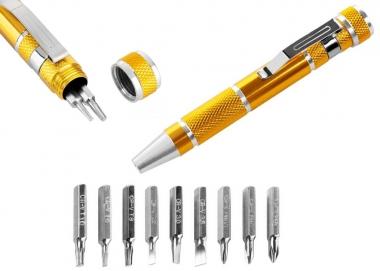REBEL RB-1111 śrubokręt wkrętak precyzyjny bity x9 zestaw