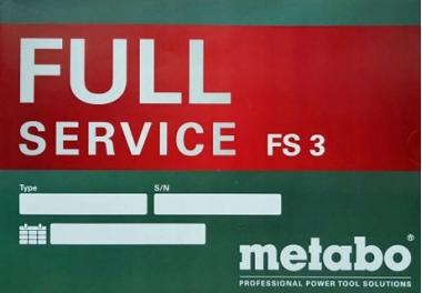 METABO Karta Code Full Service - Grupa cen FS3