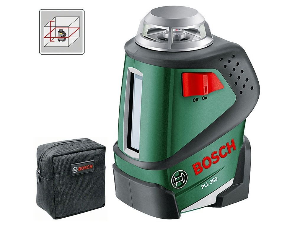bosch pll 360 laser liniowy krzy owy 20m pomiary robo kop. Black Bedroom Furniture Sets. Home Design Ideas