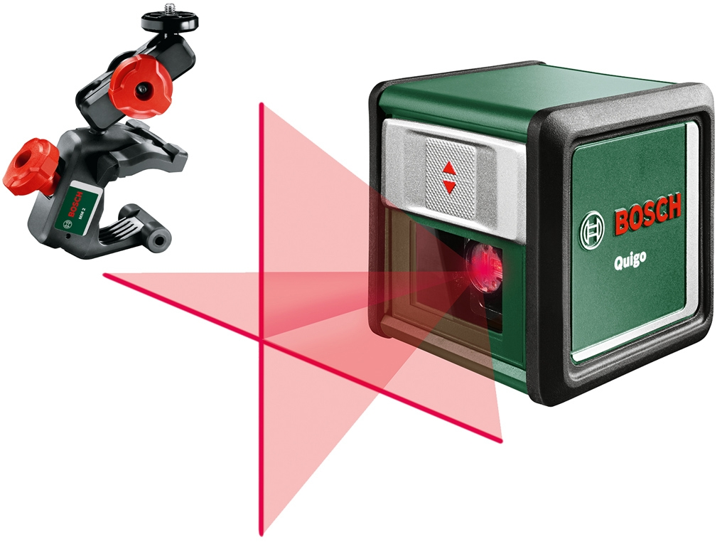 bosch quigo iii mm2 laser krzy owy 10m uchwyt pomiary robo kop. Black Bedroom Furniture Sets. Home Design Ideas