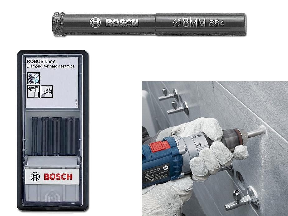 BOSCH wiertła diamentowe zestaw HARD CERAM 6/8/10/14mm