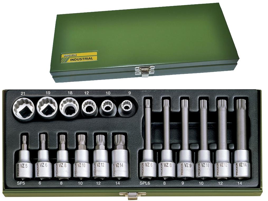 PROXXON 23296 klucze nasadki XZN 18 el.