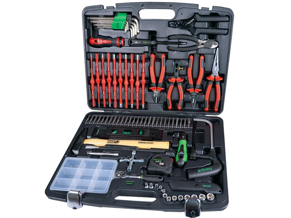 HAUPA 104090 walizka z narzędziami dla elektryków 78szt