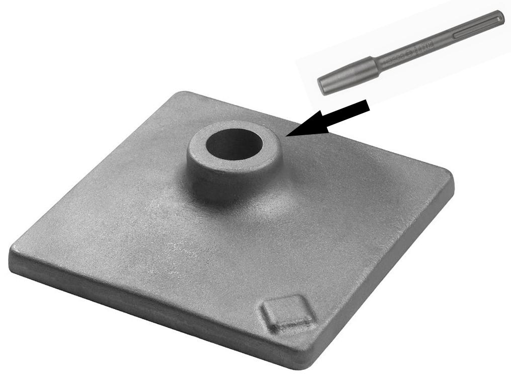 BOSCH stopa płyta ubijak do młotów 120 x 120mm