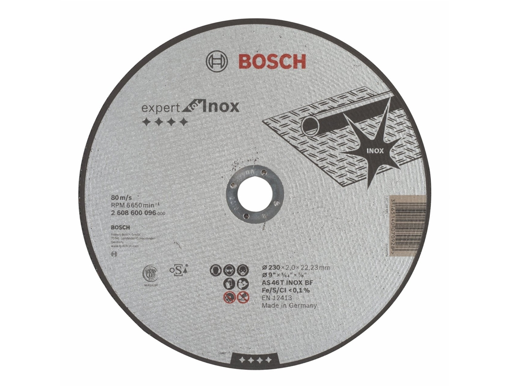 BOSCH tarcza korundowa do metalu 230 mm