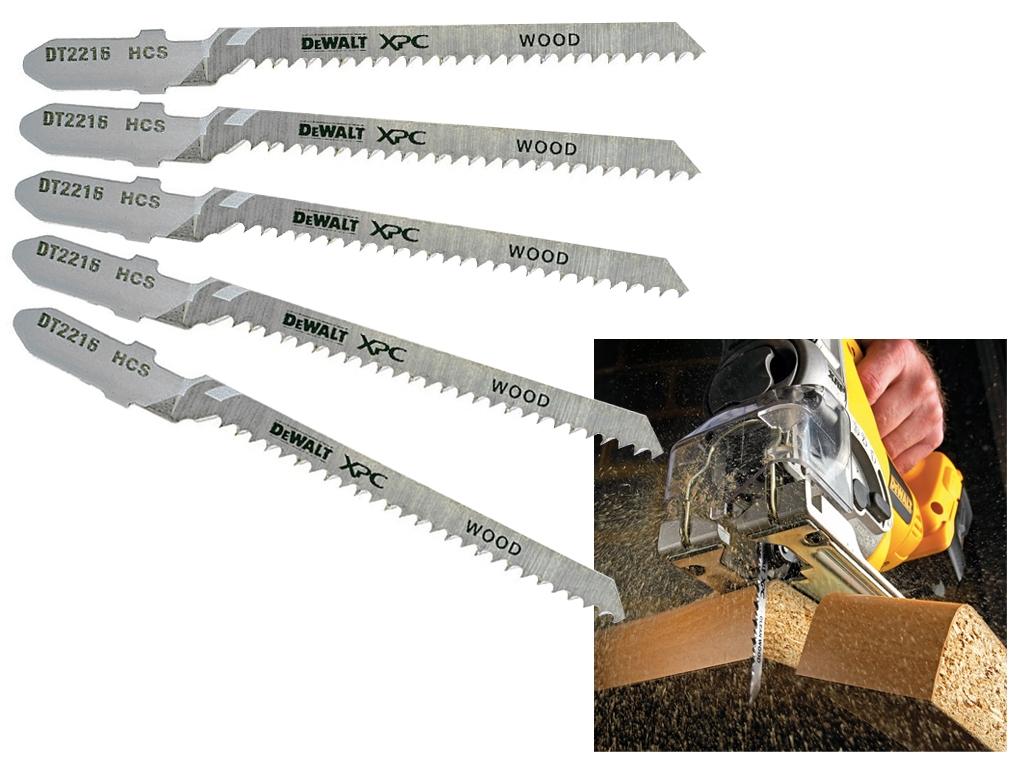 DeWALT DT2216 brzeszczoty drewno HCS 82mm 5 sztuk