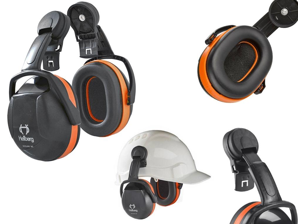 HELLBERG Secure 3 nauszniki słuchawki ochronne mocowane do kasku