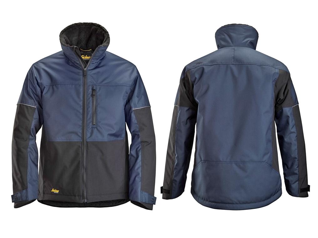 SNICKERS 1148 kurtka zimowa czarno-niebieska XS-XXXL
