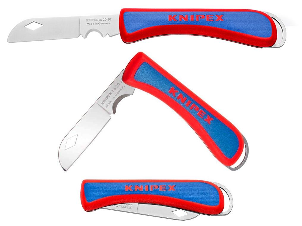 KNIPEX 162050 SB nóż składany scyzoryk dla elektryka