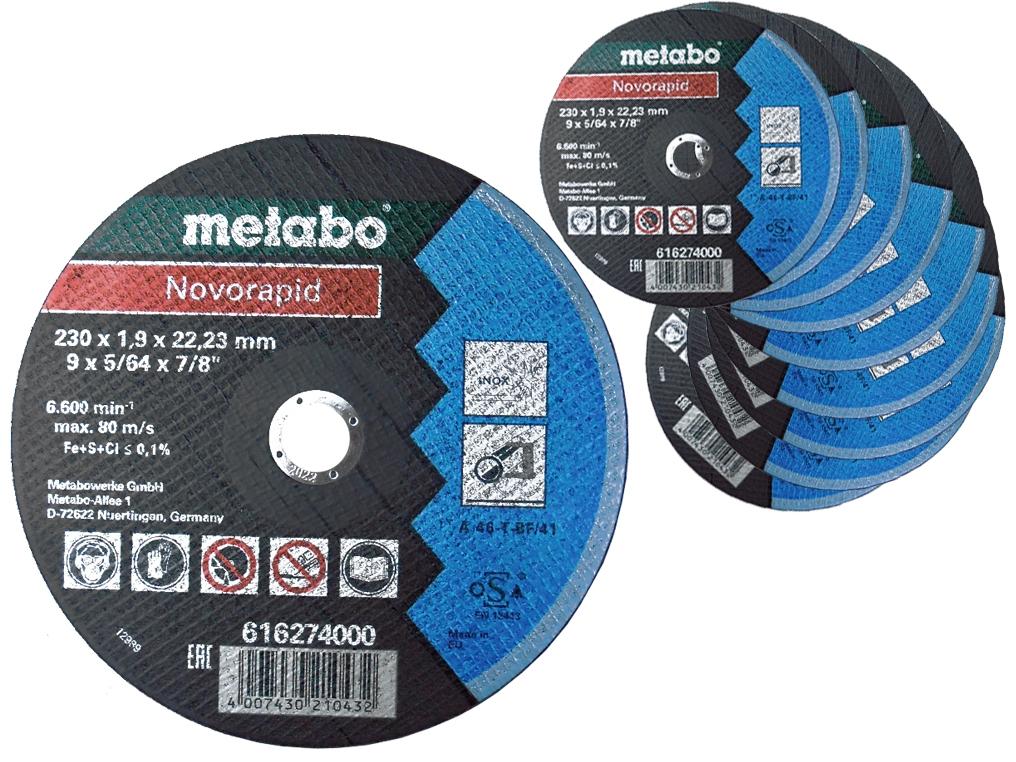 METABO tarcza korundowa do metalu 230mm x10
