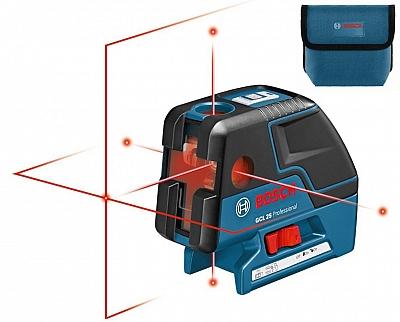 BOSCH GCL 25 laser krzyżowy punktowy 30m