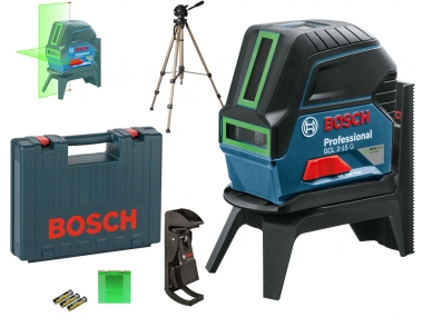 BOSCH GCL2-15G laser ZIELONY krzyż punkt + statyw