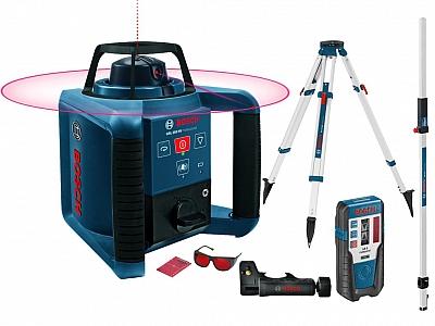 BOSCH GRL 250 HV laser obrotowy +LR1 statyw łata