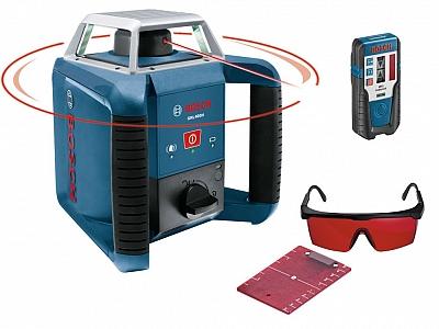 BOSCH GRL 400 H laser obrotowy + LR1 400m