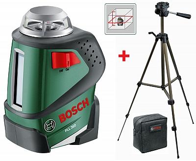 BOSCH PLL 360 laser liniowy krzyżowy + STATYW