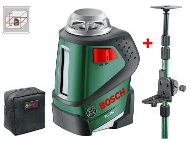 BOSCH PLL 360 laser liniowy krzyżowy + TYCZKA