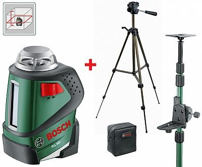 BOSCH PLL 360 laser liniowy krzyżowy STATYW+TYCZKA