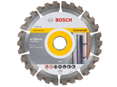 BOSCH tarcza diamentowa beton UNI 150mm