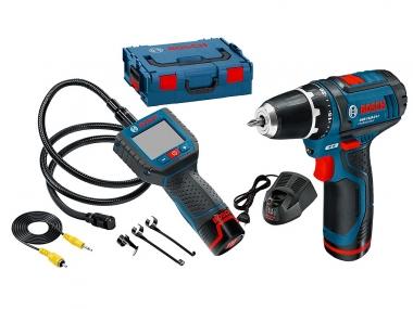 BOSCH wkrętarka GSR 10,8 2-LI kamera GOS 10,8 V-LI