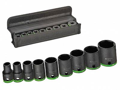BOSCH zestaw nasadki udarowe klucze 1/2'' 38mm x9
