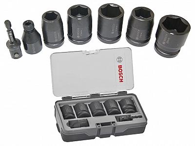 BOSCH zestaw nasadki udarowe adapter 1/2'' 1/4''