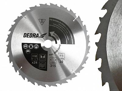 DEDRA HL31524 tarcza piła tarczowa 315mm/24z/30mm