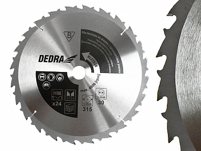 DEDRA HL40036 tarcza piła tarczowa 400mm/36z/30mm