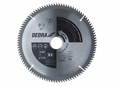 DEDRA piła tarczowa do aluminium 250mm/100z/30mm