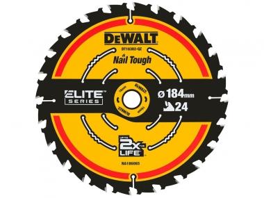 DeWALT DT10302 tarcza piła drewna 184mm/24z/16mm