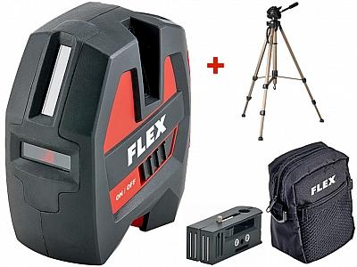 FLEX ALC 3/1 laser krzyżowy 20m + statyw