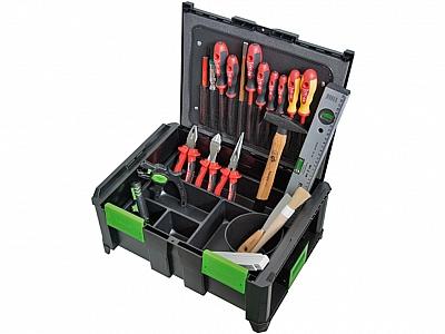 HAUPA 220608 skrzynia walizka z narzędziami 22 sztuki