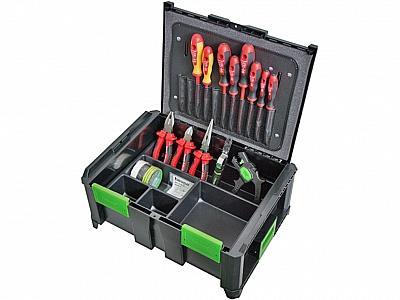 HAUPA 220392 skrzynia walizka z narzędziami 17 sztuk