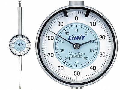 LIMIT czujnik zegarowy udaroodporny 50mm