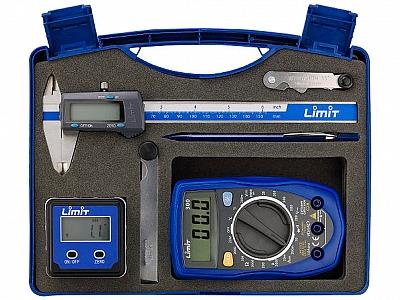 LIMIT zestaw miernik suwmiarka poziomica elektroniczna 6 elementów
