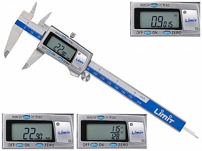 LIMIT suwmiarka elektroniczna mm cale ułamki 200mm