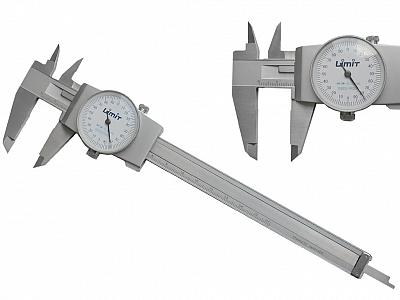 LIMIT suwmiarka zegarowa stal nierdzewna 150mm