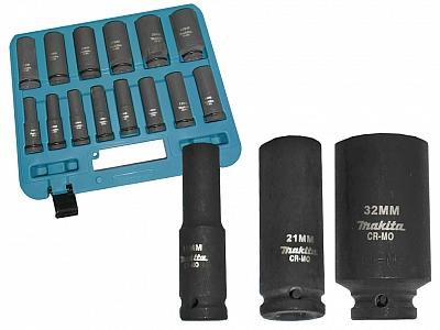 MAKITA zestaw klucze nasadki udarowe x14