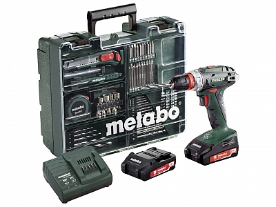 METABO BS18 QUICK wkrętarka 48Nm 18V 2x2,0Ah OSPRZĘT