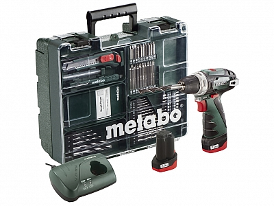 METABO PowerMaxx BS wkrętarka 34Nm 2,0Ah + 63szt.