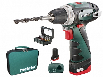 METABO PowerMaxx BS wkrętarka 34Nm 2x2Ah torba
