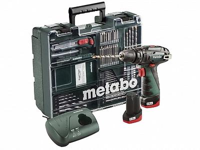 METABO PowerMaxx SB wkrętarka udarowa 2x2Ah +69szt
