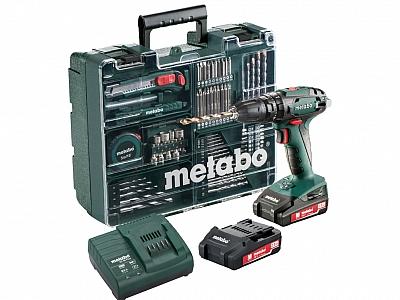 METABO SB18 wkrętarka udarowa 48Nm 2,0Ahx2 osprzęt zestaw