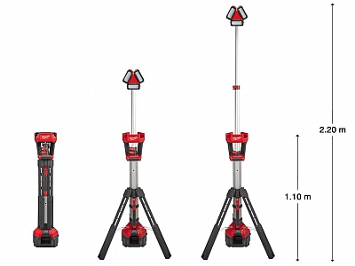 MILWAUKEE M18 HSAL lampa LED 18V/230V