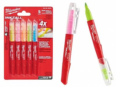 MILWAUKEE 48223206 marker zakreślacz 5 kolorów